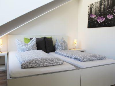Schlafenbereich der Ferienwohnung
