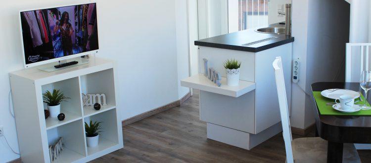 Wohn-/Küchenbereich der Ferienwohnung