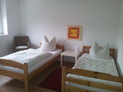 Schlafzimmer I mit zwei Betten